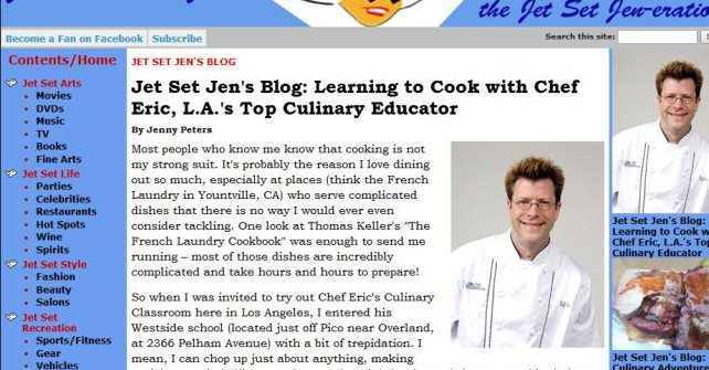Culinary Adventures in California: Learning to Cook with Chef Eric