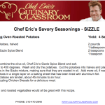 Chef Eric's Sizzling Oven-Roasted Potatoes Recipe