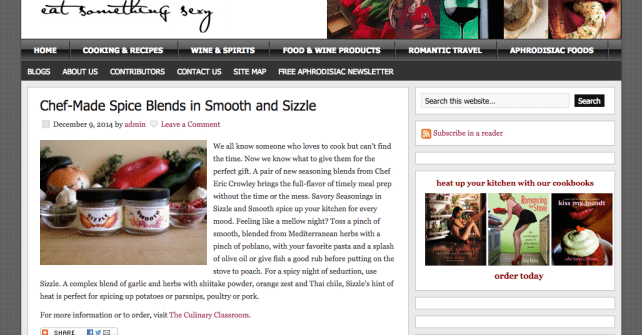 Sizzle and Smooth – EatSomethingSexy.com Product of the Week