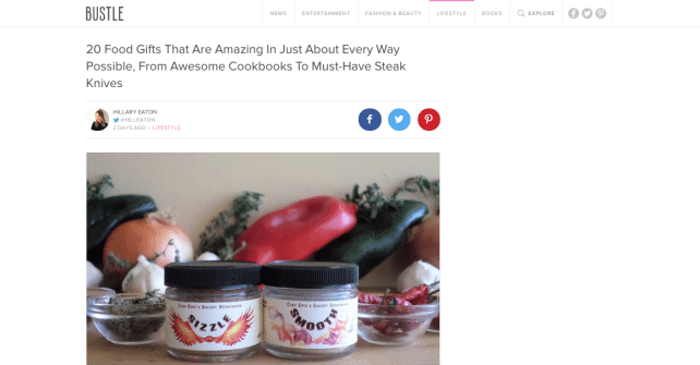 Sizzle and Smooth – Featured on Bustle.com's Holiday Gift Guide