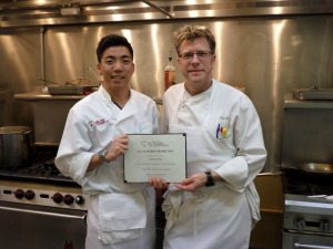 Chef Eric with C-CAP Graduate Jin Ho Jung