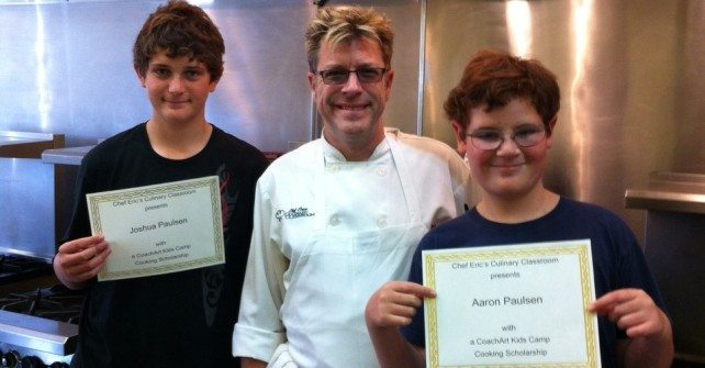 CoachArt Scholarships at Chef Eric's Culinary Classroom